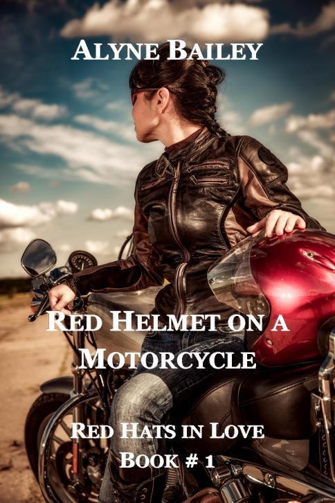 Red Helmet on a Motorcycle